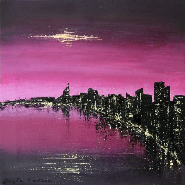 Purple City 38.5x38.5 cm (resized)