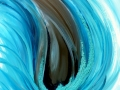 Vague bleue 50 x 50 cm